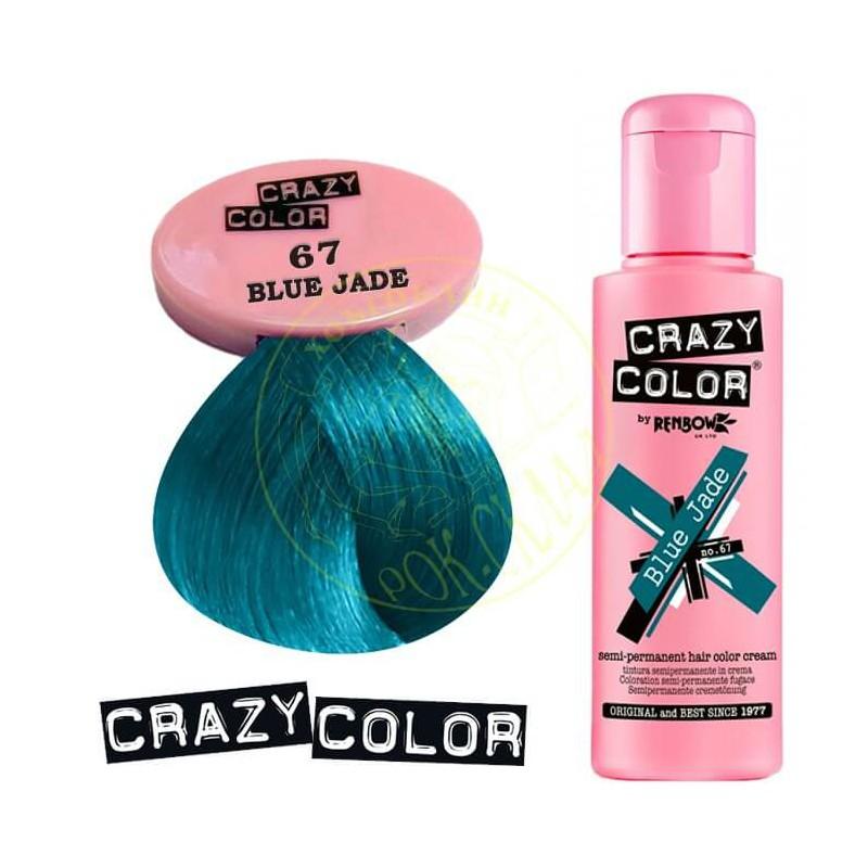 CRAZY COLOR Crazy Color Semi Permanent Hair Colour Dye Cream by Renbow 67  Blue Jade CRC002278 b67b4fb6db