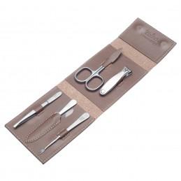 Havanna L TopInox Stainless Steel Manicure Men's Set in Leather Case Solingen - 1