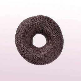 Hair roll, brown, 8cm